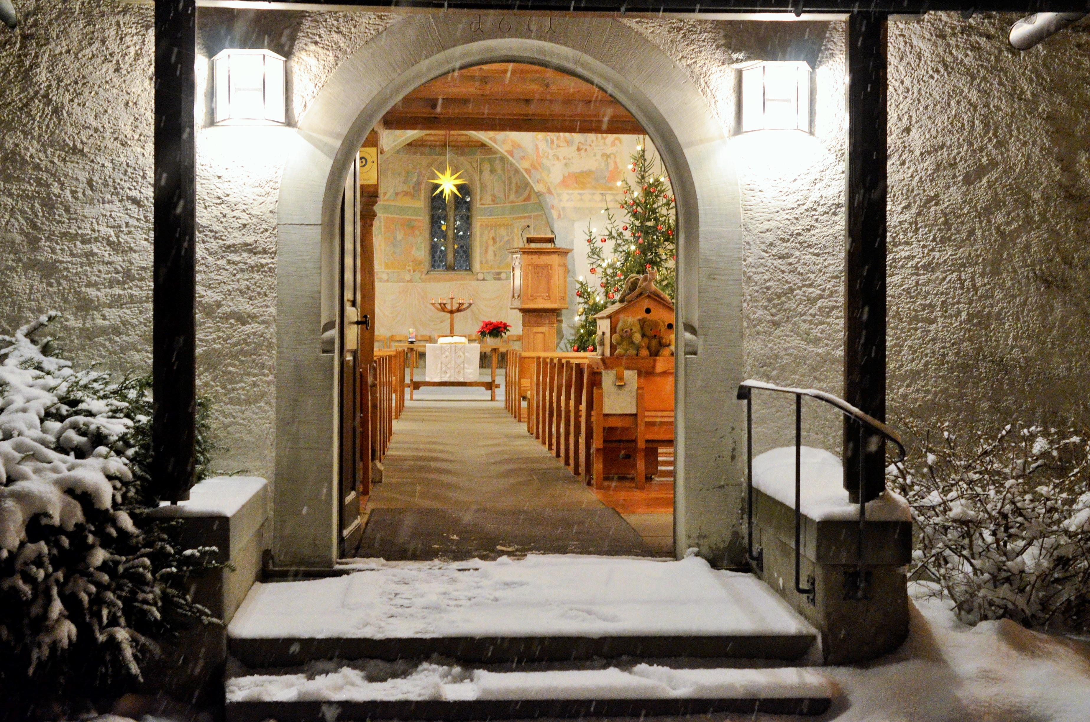 Weihnachten Kirche.24 25 Dezember In Der Kirche Burg Einstimmung Auf Heiligabend Und